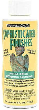 MODERN OPTIONS/TRIANGLE Sophisticated Finishes Patina Green Antiquing Solution 4 oz.