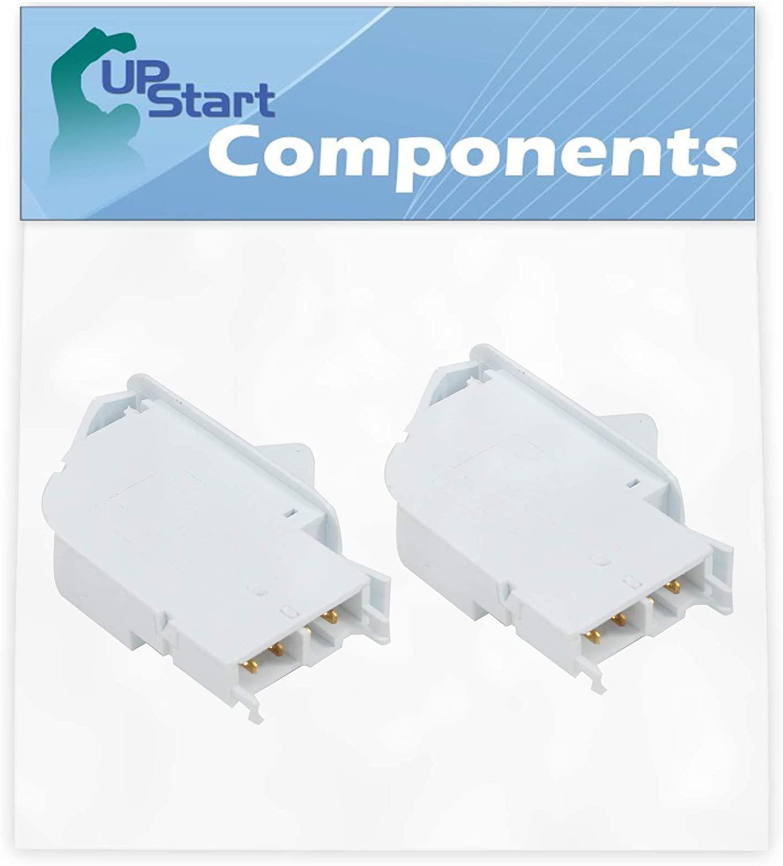 2-Pack W10546503 Dishwasher Upper Rack Adjuster Replacement for KitchenAid KDFE204ESS2 Dishwasher - Compatible with WPW10546503 Rack Adjuster Assembly