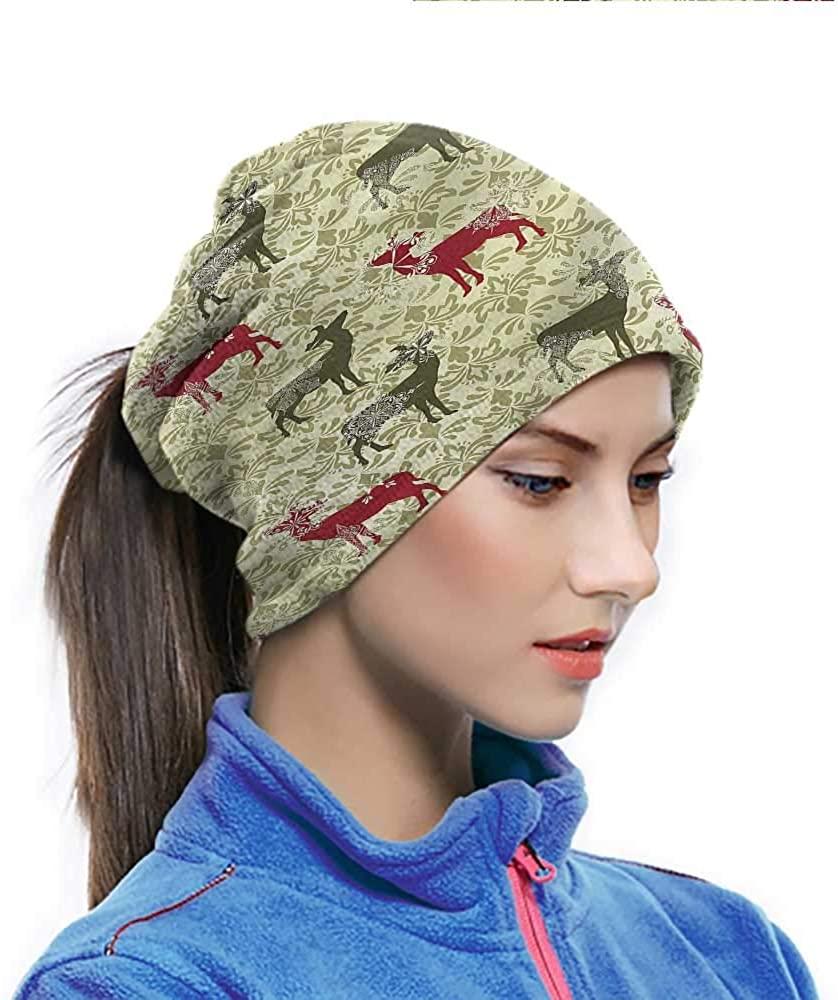Head Wrap Christmas, Damask Kitsch Pattern Neck Gaiter Bandanas For Work, Yard work, Working Out 10 x 11.6 Inch