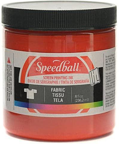 Speedball Fabric Screen Printing Ink (Red) - 8 oz.
