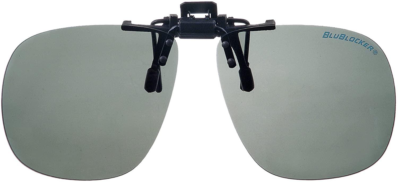 BluBlocker Black Bullet Gray Polarized Clip On Sunglasses - 1570K