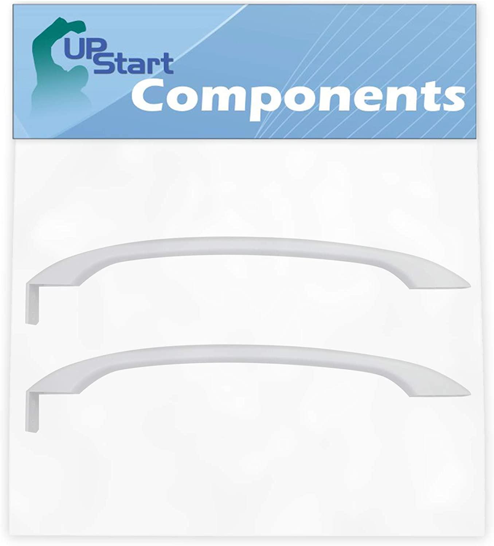 2-Pack 218428101 Refrigerator Door Handle Replacement for Frigidaire FRT17B3JZ0 Refrigerator - Compatible with 218428101 White Door Handle - UpStart Components Brand