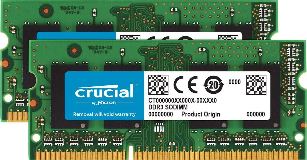 Crucial 16GB Kit (8GBx2) DDR3/DDR3L 1866 MT/s (PC3-14900) SODIMM 204-Pin Memory For Mac - CT2K8G3S186DM