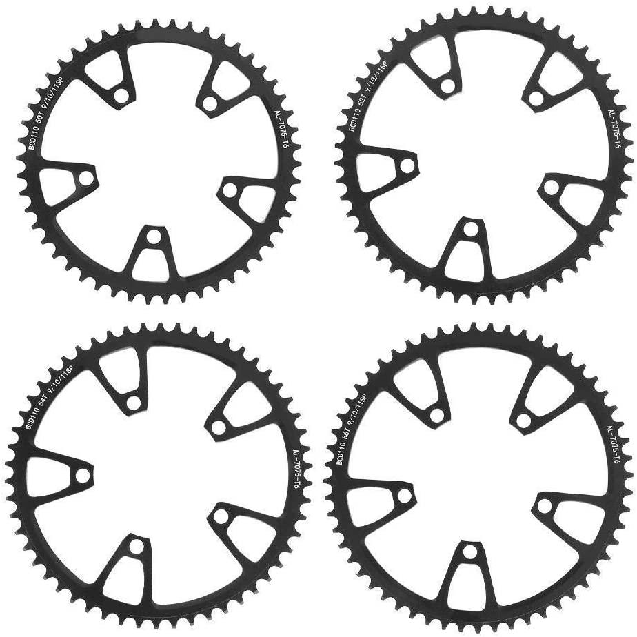 DINEGG 110BCD Aluminium Alloy Black Bike Positive Negative Teeth Plate Single Disc Mountain Bicycle Tool Accessory QQQNE