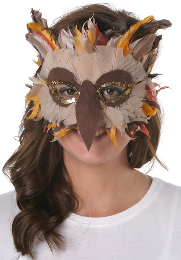 Zucker Feather Products Feather Owl Mask