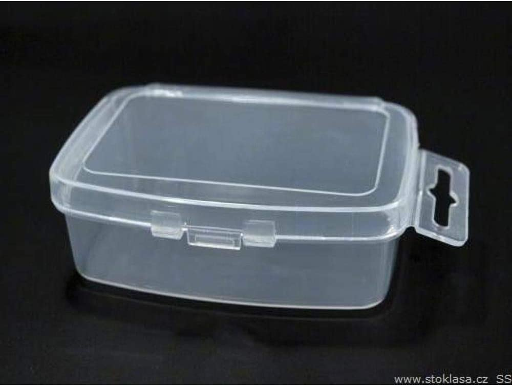 3pc Transparent Plastic Box for Beads 3.5x5x2cm with Euro Slot, Doses, Storage Bins and Other Protective Packaging, Craft Basics, Hobbies