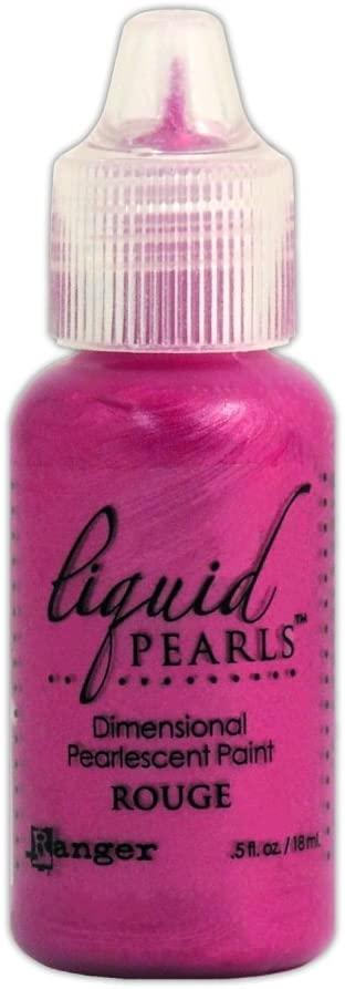 Ranger LPL-28222 Liquid Pearls Glue Paint, Rouge, 0.5 oz