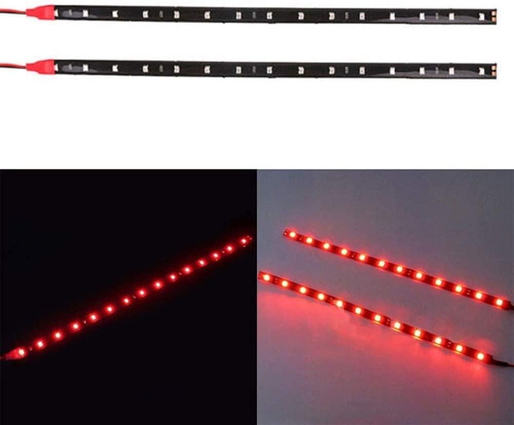JELO Premium Led Strip Lights, Led Strip Lights with Remote 2PCS 30cm 5050 Led Strip Lights for Bedroom Professional & Upgraded (Color : Red)