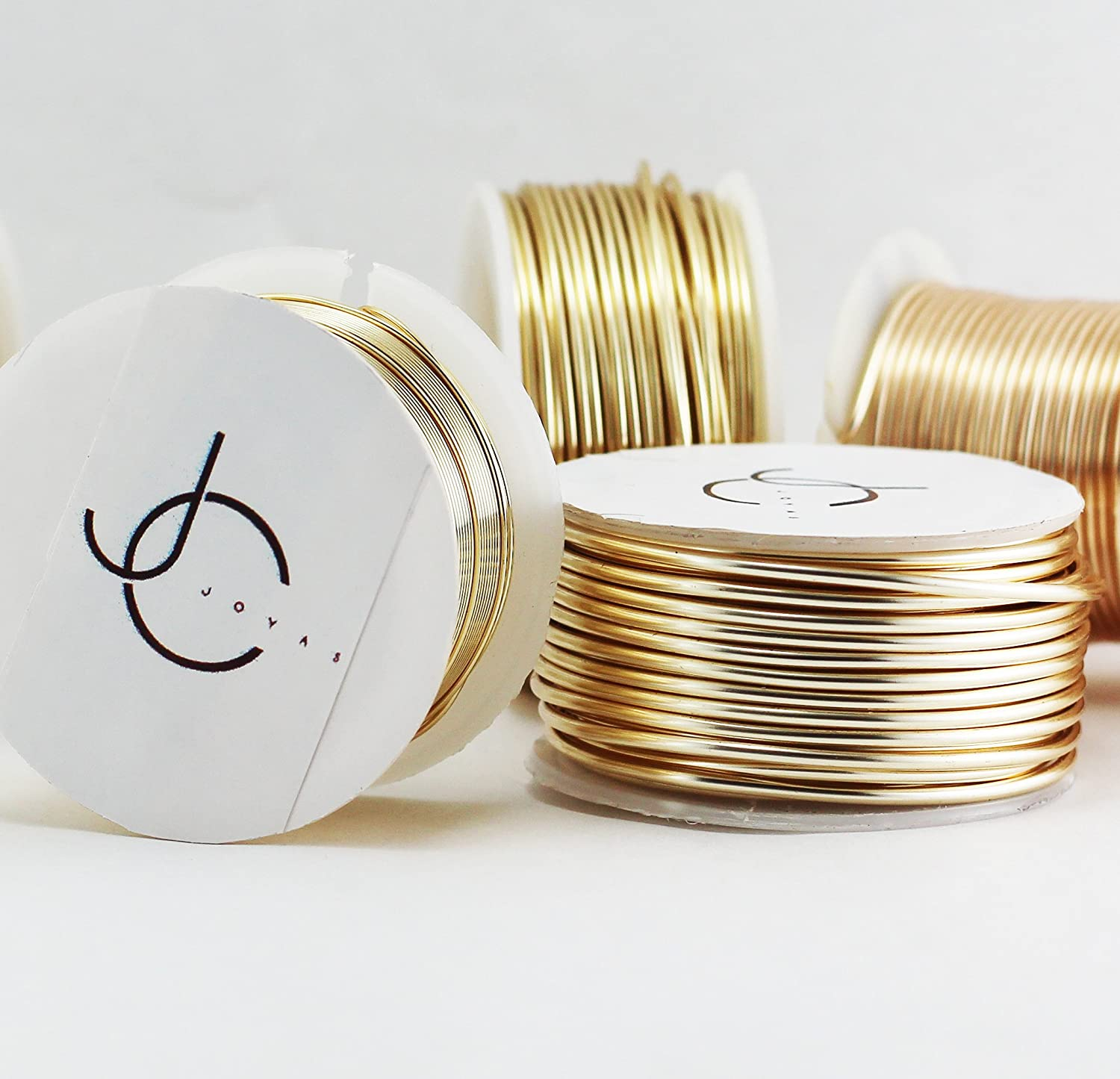 Creartejoyas Full Reel Wire 16 AWG Gold Filled Covert with Golden Polymer.