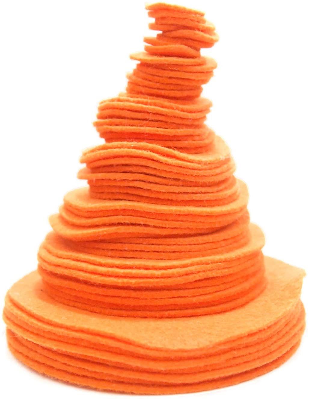 Playfully Ever After Light Orange Craft Felt Circles (Mixed Size Pack - 56pc)