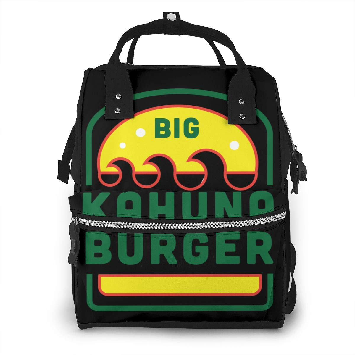 Big Kahuna Burger Diaper Bag Multi-Function Waterproof Travel Backpack Nappy Bags for Baby Care Mummy Backpack
