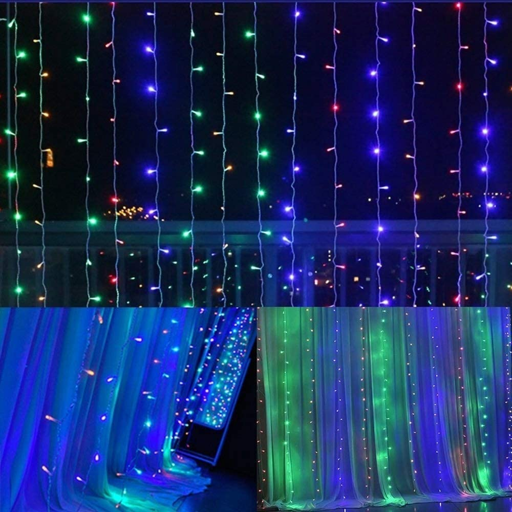 BMWY Fairy Lights,3mx2m 240led Led Fairy Lights, Waterproof Christmas Lights for Christmas Decorations (Color : Multicolor)