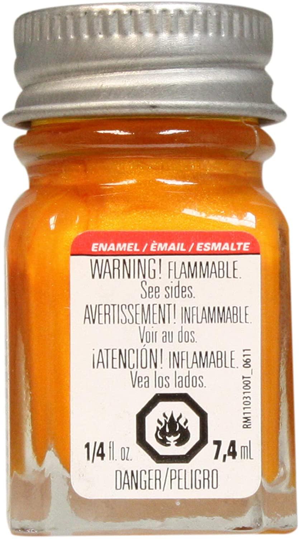 Testor's 1115TT 1/4 Oz Turn Signal Amber Metallic Enamel Hobby Paint