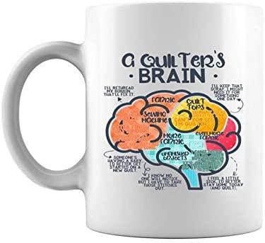 Funny Quilter's Brain Quilt Quilting Sewing Stitches Premium Coffee Mug 11 Oz