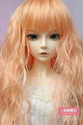 BJD Doll Hair Wig 9-10 inch 22-24cm Orange 1/3 SD DZ DOD LUTS curly hair E39