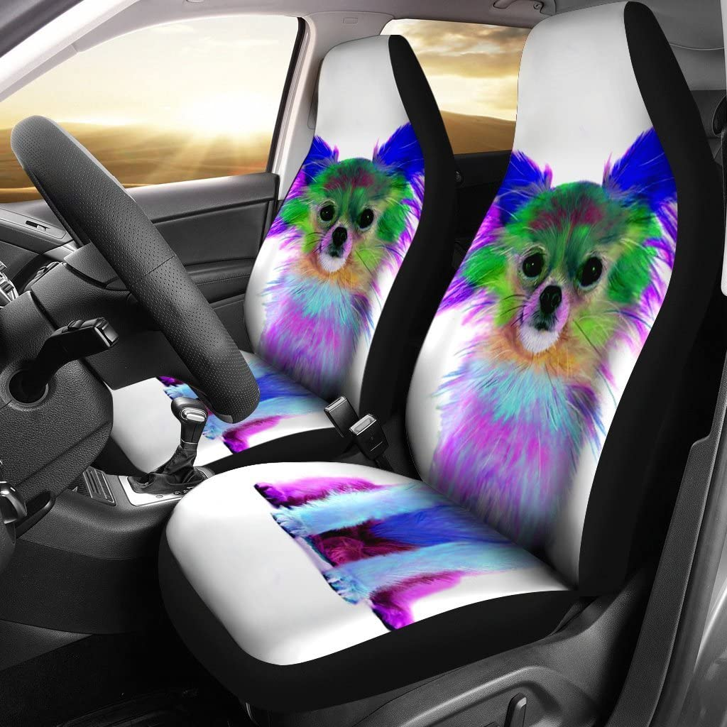 Pet Animal Designs Colorful Chihuahua Dog Print Car Seat Covers