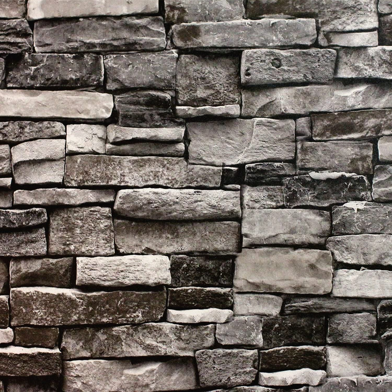 Blooming Wall Faux Stone Brick Wall Mural Wallpaper Vinyl for Livingroom Bedroom, 20.8 In32.8 Ft=57 Sq.ft.