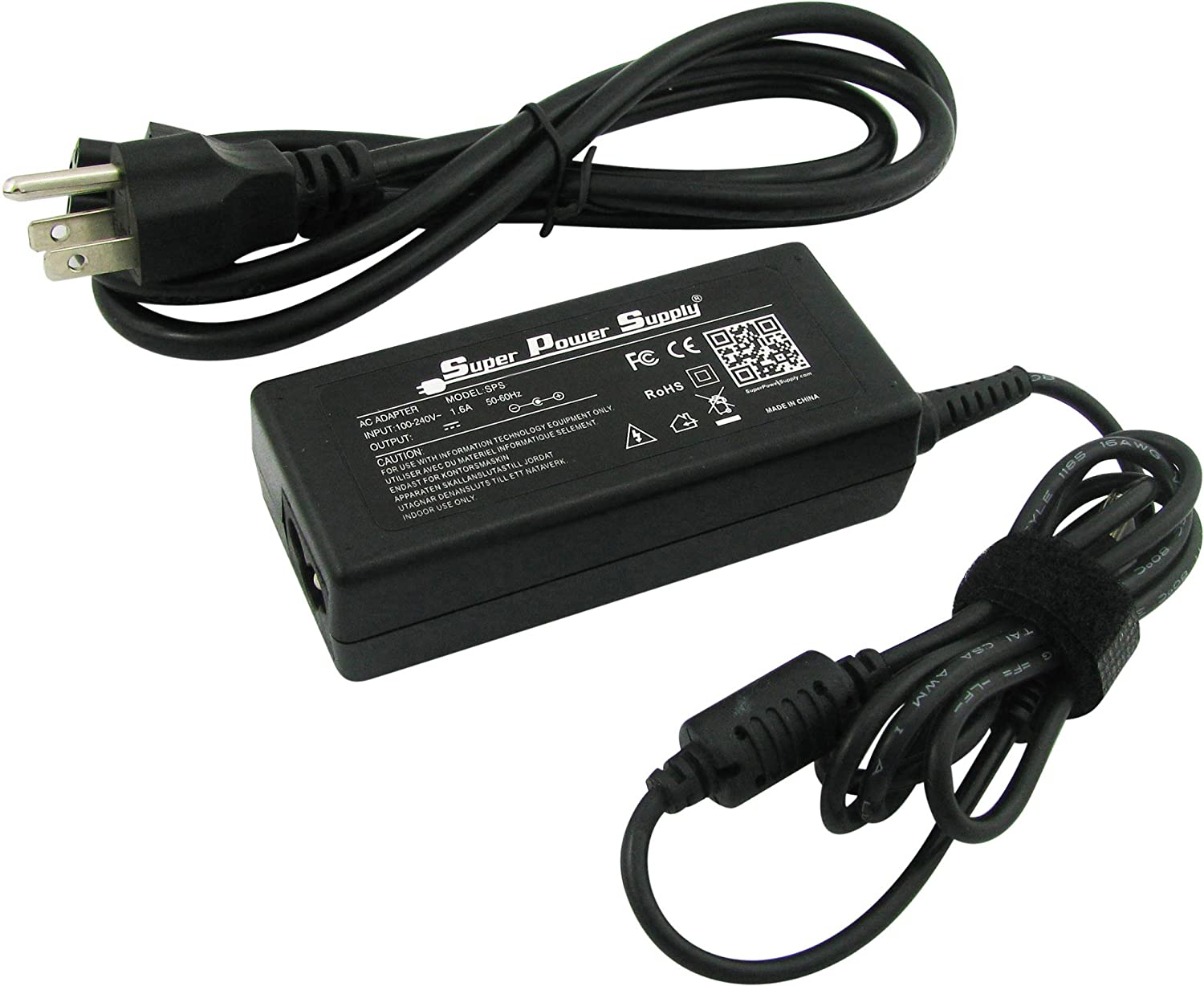 Super Power Supply AC/DC Laptop Charger Adapter Cord for Advent Airis Pragma N845, Pragma N750