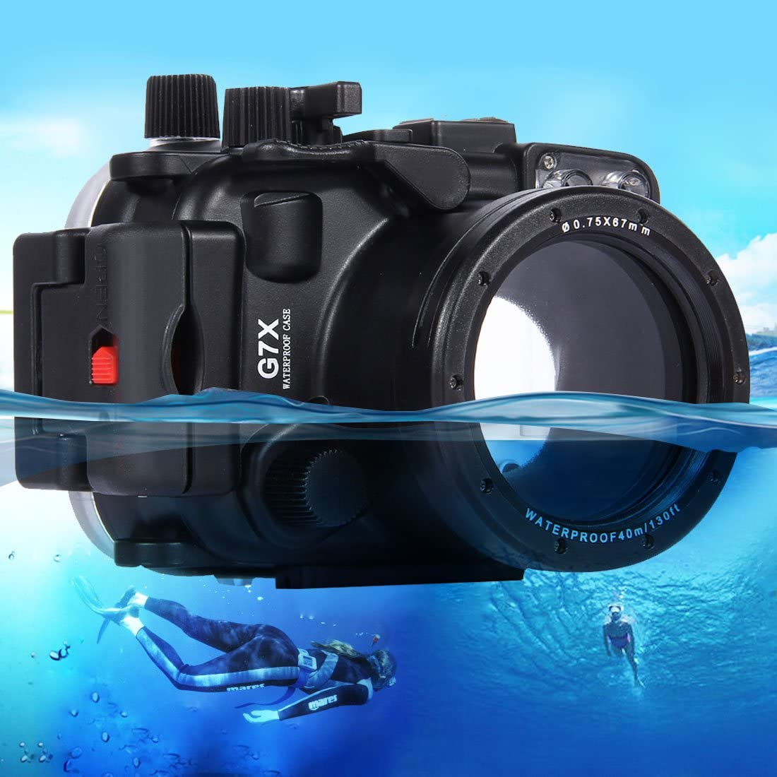 for Canon G7 X 40m Underwater Depth Diving Case Waterproof Camera Housing