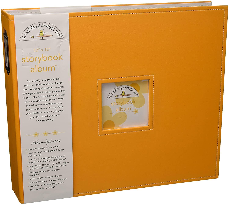 Doodlebug Design Storybook for Scrapbooking Album, 12 by 12-Inch, Tangerine
