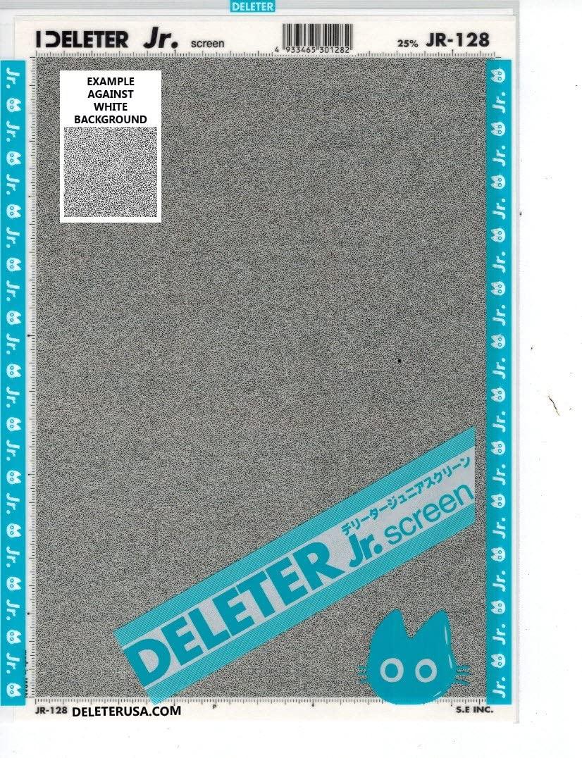 Deleter Screen Tone Jr JR-128 [Static Pattern 25%][Sheet Size 182x253mm (7.16