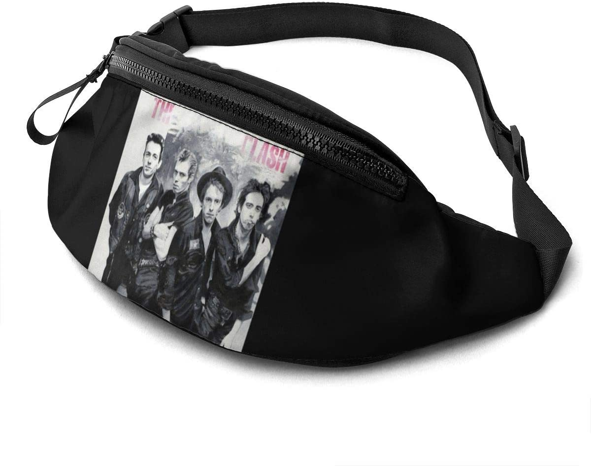 Qwtykeertyi The Clash Unisex Fanny Packs for Outdoors Sport Workout Traveling Casual Running Hiking Cycling Gym with Adjustable Strap