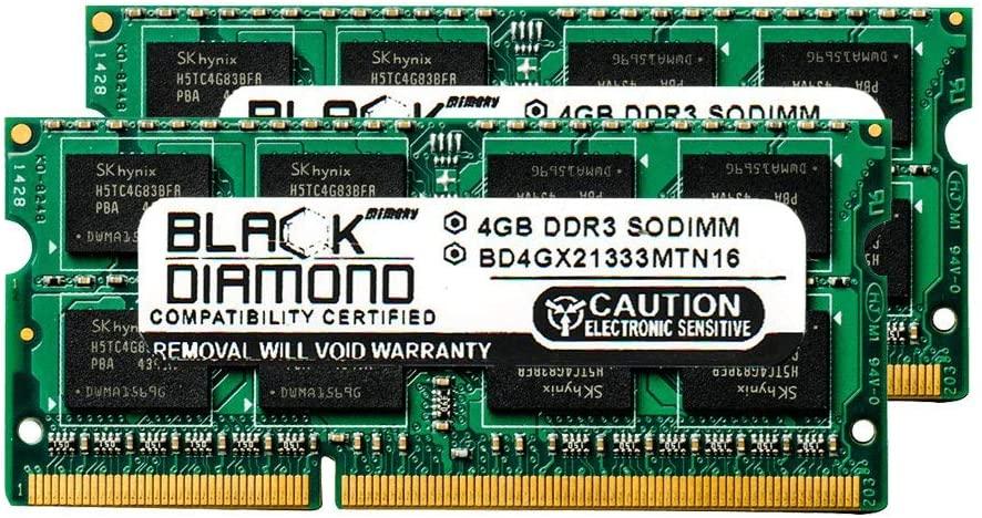 8GB 2X4GB RAM Memory for Acer Aspire Notebooks 5253-BZ656 Black Diamond Memory Module DDR3 SO-DIMM 204pin PC3-10600 1333MHz Upgrade