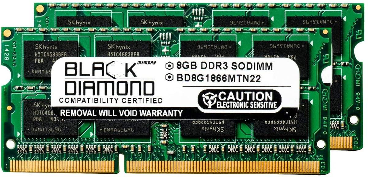 16GB Kit(2X8GB) DDR3 1866 (PC3-14900) SODIMM Memory 204-pin (2Rx8)