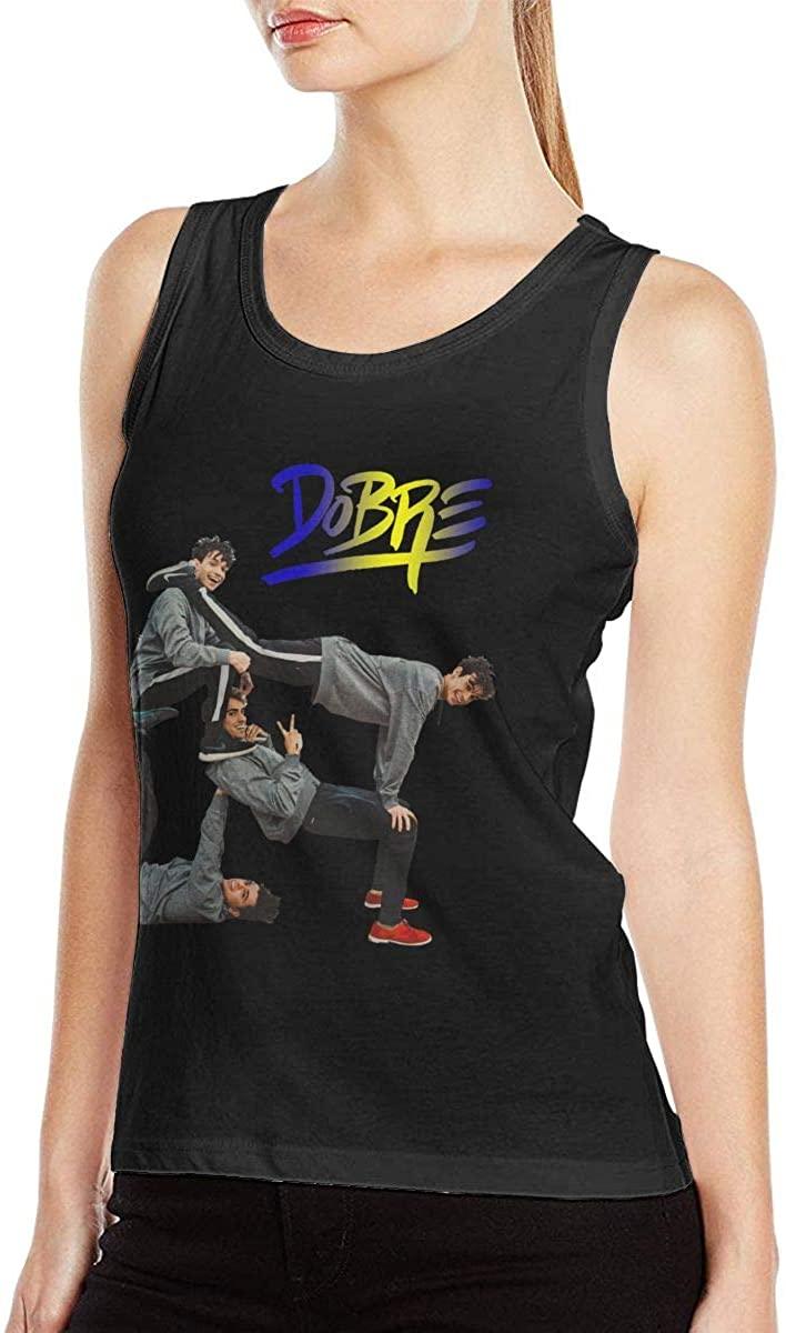 Dobre Brothers Womens Sexy Tank Tops Sports Vest T-Shirt Black