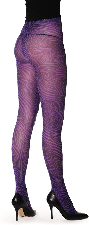 Purple Zebra – Purple Opaque Pantyhose (Tights)