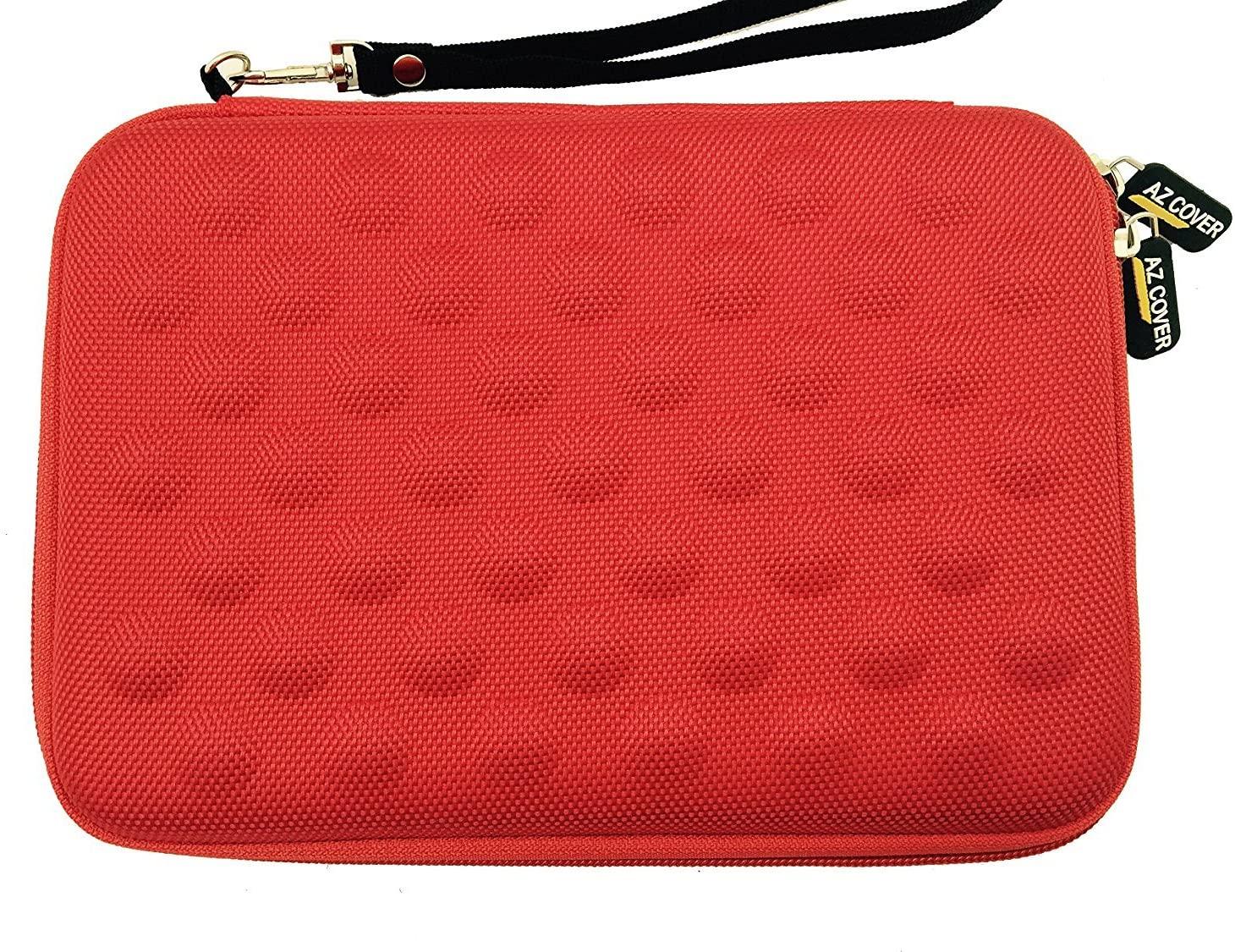 AZ-Cover 7.9-Inch Tablet Semi-rigid EVA Bubble Foam Case (Red) With Wrist Strap For Apple iPad mini Retina 7.9-inches ME278LL/A ME281LL/A MF066LL/A MF069LL/A + One Capacitive Stylus Pen