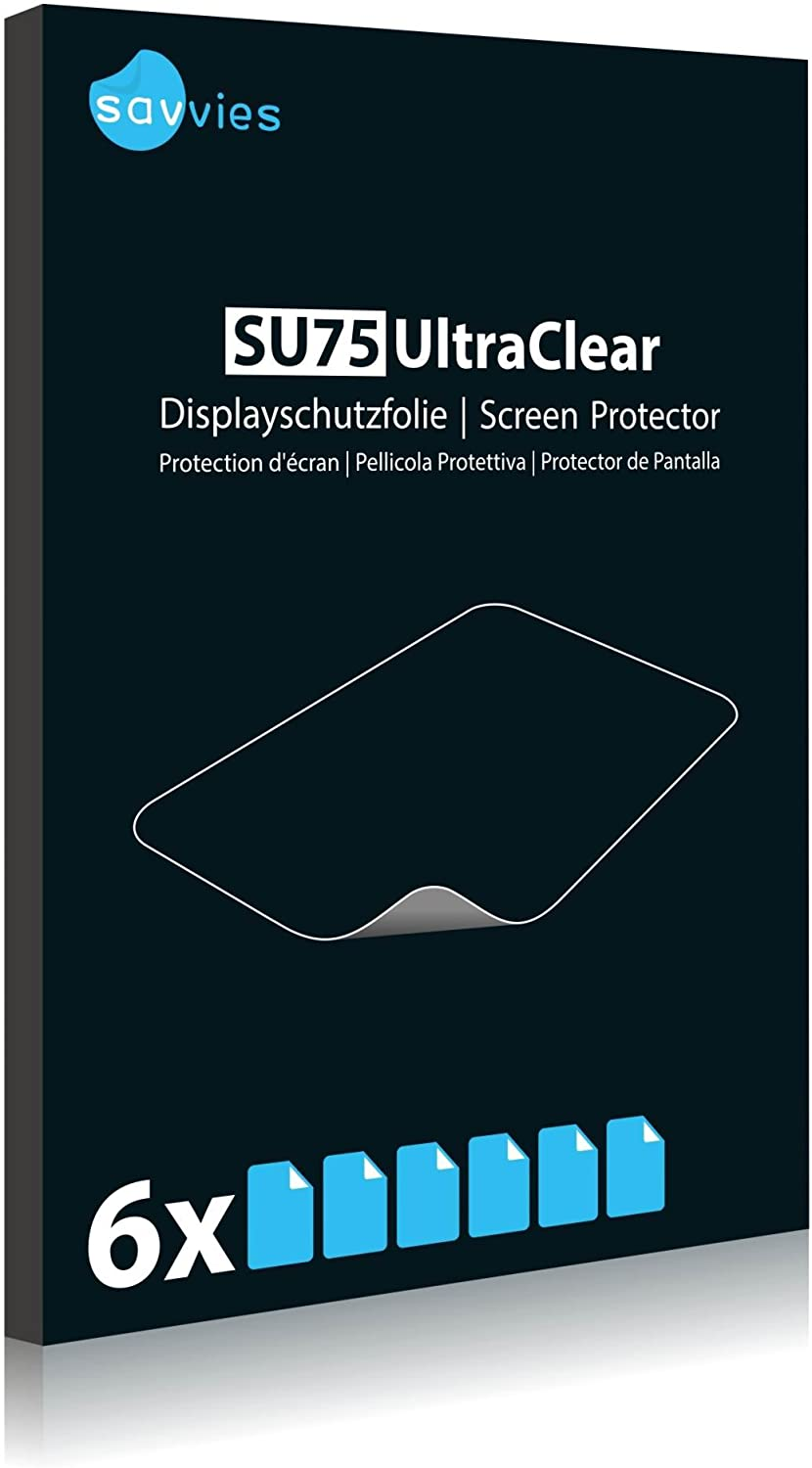 Bedifol 6X Savvies Ultra-Clear Screen Protector for TrekStor i.Beat Jump BT, accurately Fitting - Simple Assembly - Residue-Free Removal