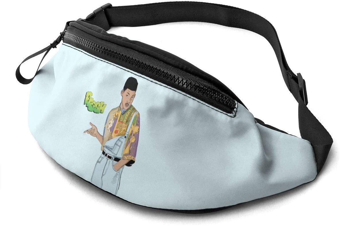 Qwtykeertyi The Fresh Prince of Bel-Air Unisex Fanny Packs for Outdoors Sport Workout Traveling Casual Running Hiking Cycling Gym with Adjustable Strap