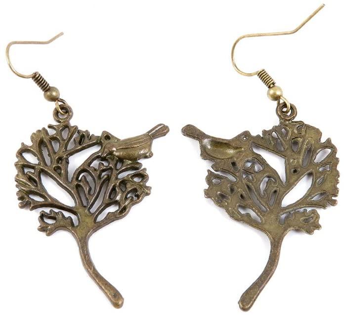 60 Pairs Jewelry Making Charms Supply Supplies Wholesale Fashion Earring Backs Findings Ear Hooks H8QO4 Bird Tree