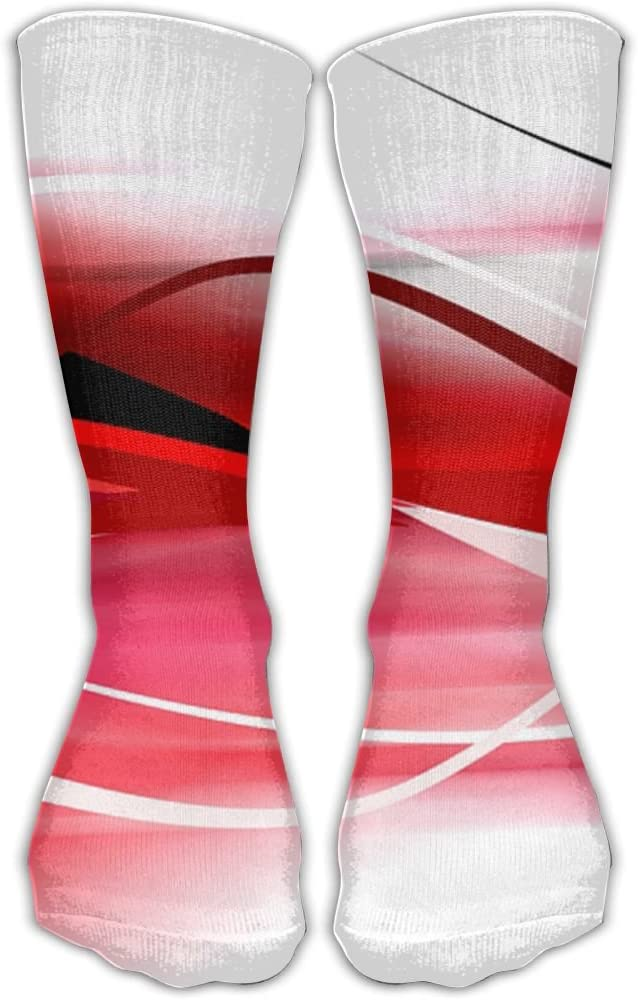 Pin-1 Red Athletic Socks Novelty Running Long Sock Cotton Socks