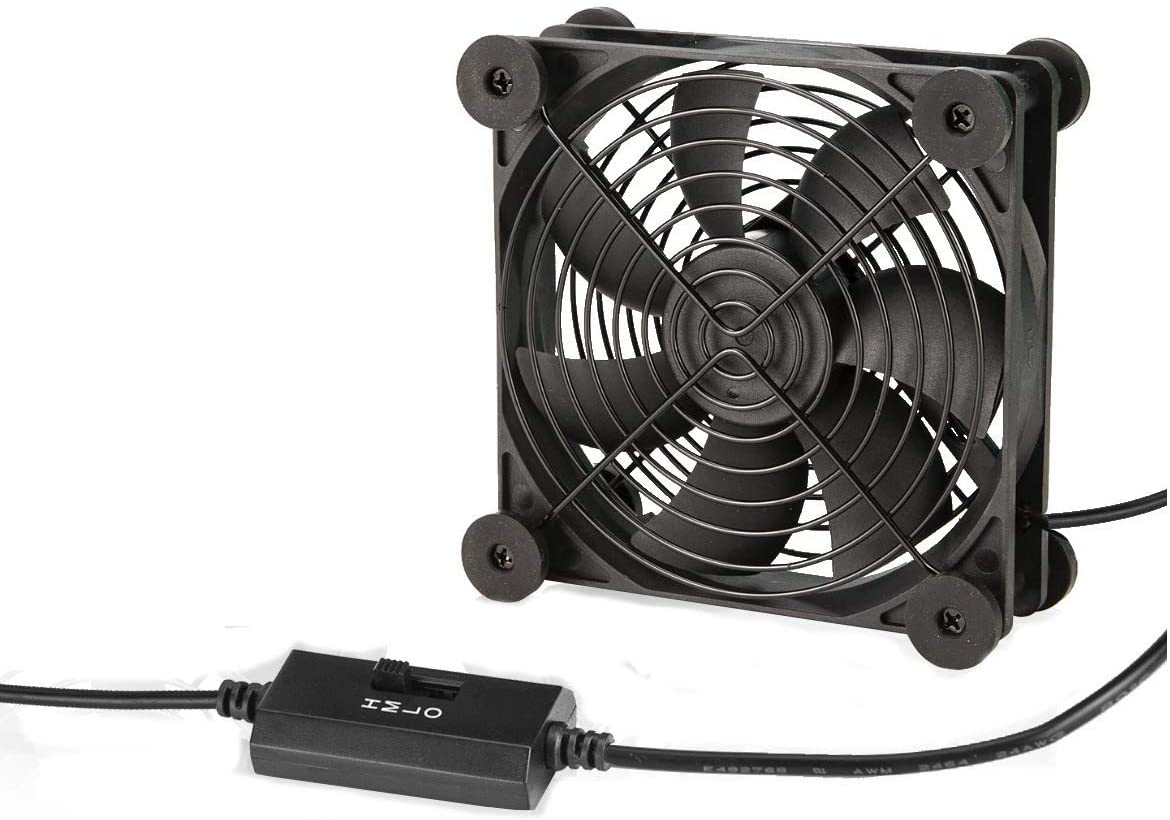 KOTTO Big Airflow 80mm Fans DC 5V Powered Fan with 3 Speed Control, Cabinet Chassis Cooling Fan, Server Workstation Cooling Fan