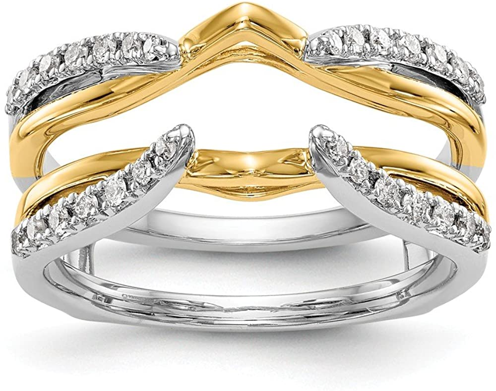 Solid 14K White Gold Diamond Guard (.248 cttw.)