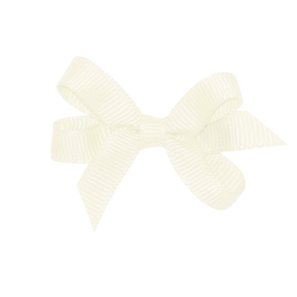 Wee Ones Girl's Baby Grosgrain Hair Bow on No Slip Clip - Antique White