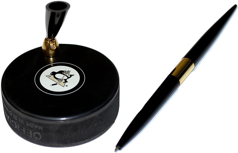 Pittsburgh Penguins Hockey Puck NHL Desk Pen Holder