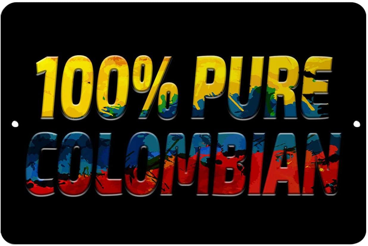 Makoroni - 100% Pure Colombian Colombia Colombian 12x18 inc Aluminum Decorative Wall Street Sign