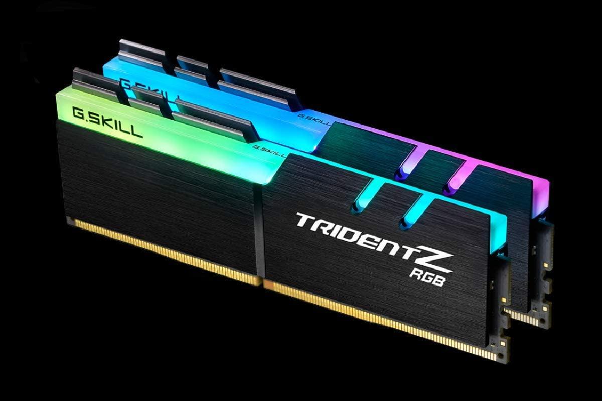 G.SKILL 32GB (2 x 16GB) TridentZ RGB Series DDR4 PC4-29800 3733MHz Intel Z370 Desktop Memory Model F4-3733C17D-32GTZR