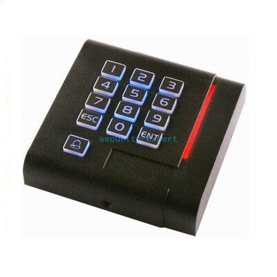 125KHz Wiegand 26 26bit Access Control Keypad RFID Reader Color Black