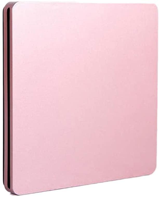 Monkibag External DVD Drive Type-C External DVD Burner Ultra-Thin External CD/DVD Player Optical Drive for PC Laptop Windows (Color : Pink, Size : One Size)
