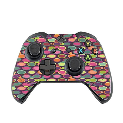 Fun Circles Pattern Lots of Purple Vinyl Decal Sticker Skin by Debbie's Designs for Xbox One Controller