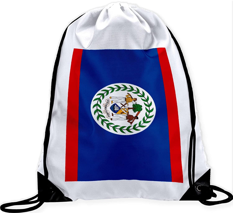 ExpressItBest Large Drawstring Bag - Flag of Belize (Belizean)