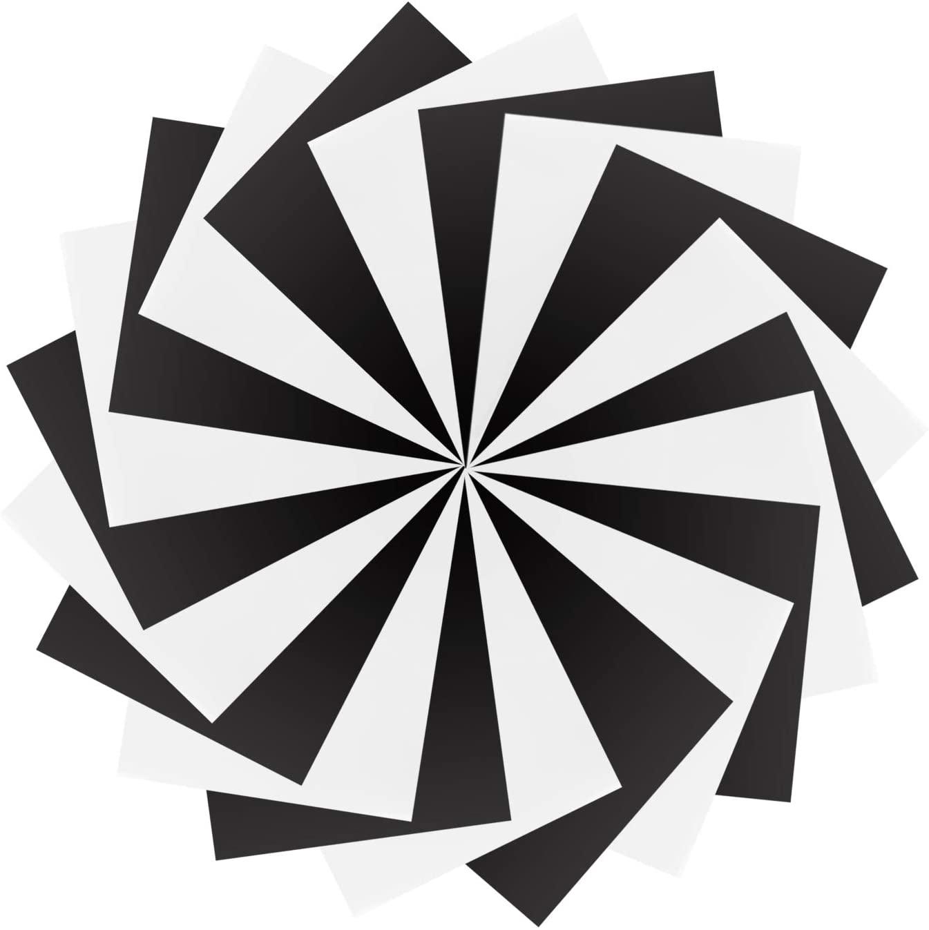 SOMOLUX Iron on Vinyl HTV Heat Transfer Vinyl 12 x 10 20 Sheets Matte Finished HTV Bundle Heat Press Vinyl Easy Cut & Weed & Press for T-Shirts Matte Black/White
