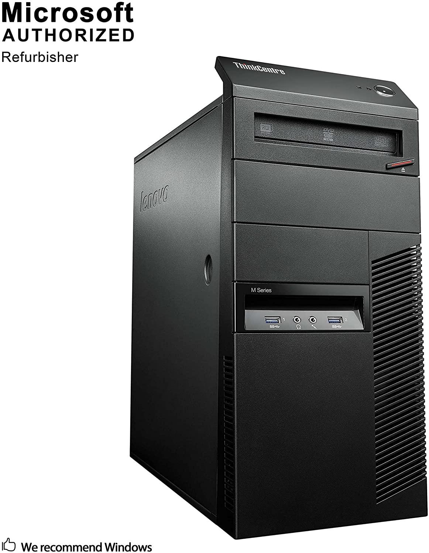 Lenovo ThinkCentre M93p Tower Desktop PC, Intel Core i5 4590 up to 3.7GHz, 16G DDR3, 500G, WiFi, Bluetooth 4.0, DVD, Windows 10 64 Bit-Multi-Language Supports English/Spanish/French(Renewed)