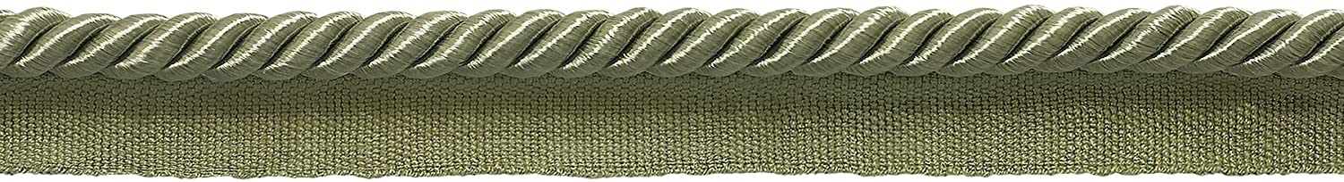 DÉCOPRO Medium 5/16 inch Basic Trim Lip Cord (Sage), Sold by The Yard, Style# 0516S Color: SAGE Green - L83