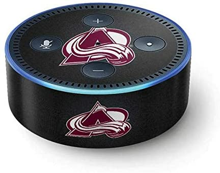 Skinit Decal Audio Skin for DHgate Echo Dot (2nd Gen 2016) - Officially Licensed NHL Colorado Avalanche Black Background Design