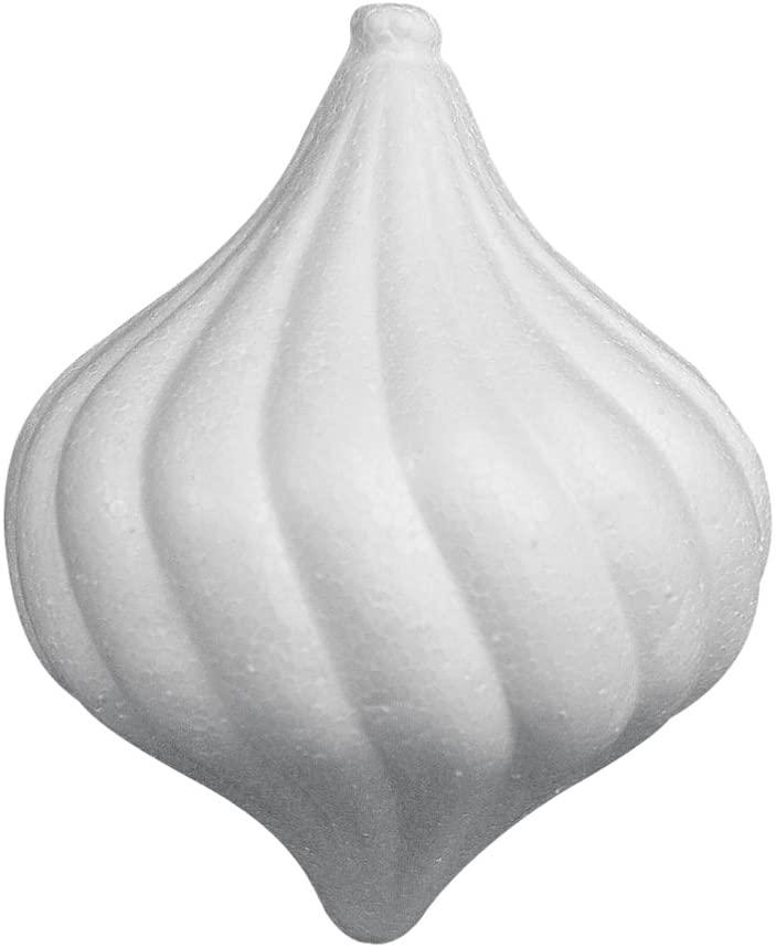 Rayher 3345400 Styrofoam Pine Cones Baroque 10.5 x 8.5 cm